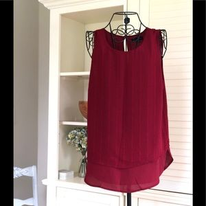 Sanctuary Burgundy Sleeveless Blouse
